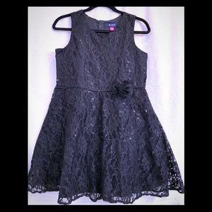 NWT Children's Place Black Holiday Dress Girls 16
